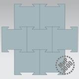 Резиплит Хард резиновое плиточное покрытие